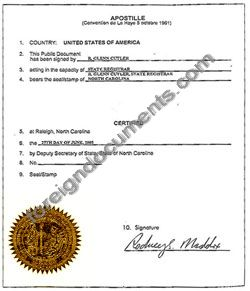 North carolina apostille north carolina apostille sample yelopaper Images