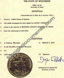 Wisconsin apostille wisconsin apostille sample yelopaper Image collections