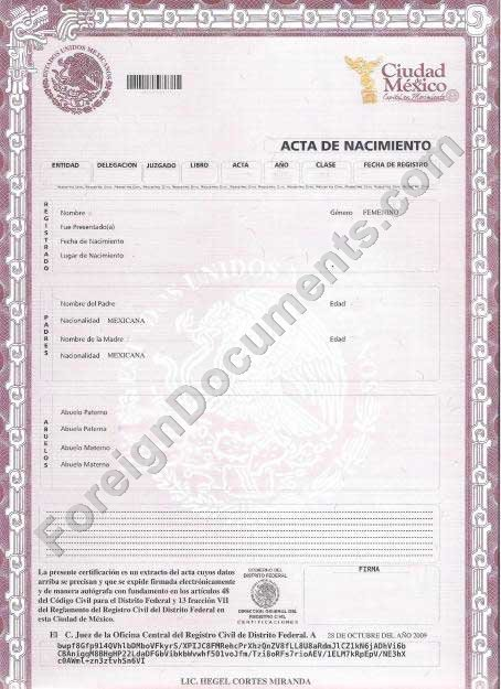 Certified spanish translation mexican birth certificate certified spanish translation mexican birth certificate translation yadclub Images