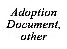 Certified translation of adoption document