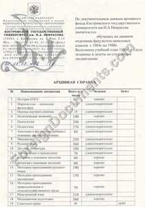 ATA certified russian translation of diploma