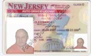 Translation of Driver Licenses issued in USA New Jersey
