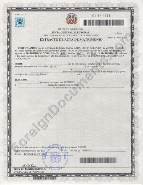 Certified translation of marriage certificates from russia ukraine dominican marriage certificate certified translation yelopaper Choice Image