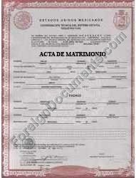 Mexican marriage certificate translation