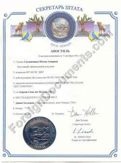 Nevada Apostille Translation