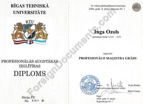 Latvian Diploma