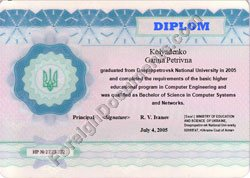 diploma translated