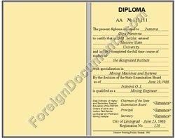 certified translation of ussr diploma