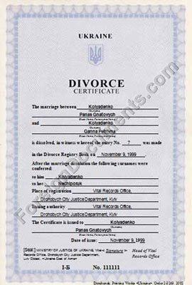Sample Divorce Certificate  Divorce Decree Sample