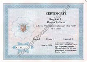 certified translation of school diploma