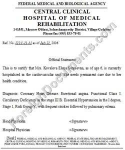 translation of medical certificate