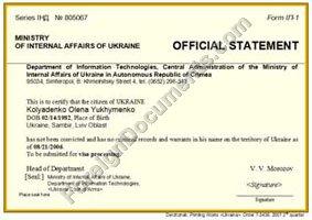 certified translation of ukrainian police certificate